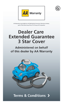 AA Warranty 3 Star ? Dealer Care Extended Guarantee